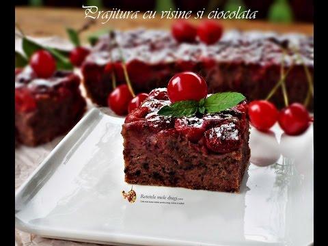 Prajitura cu cirese si ciocolata