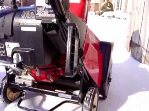 Honda HS621 Single Stage Snowblower Demonstration   YouTube