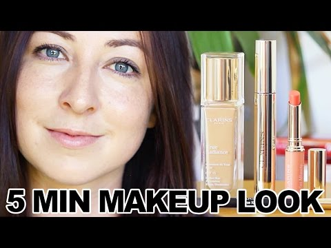 Chic & Simple 5 minute Make-up Tutorial with Clarins | ad