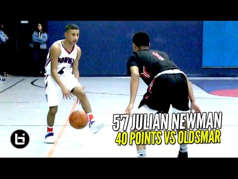 Julian Newman 40 POINTS vs D1 Bound PG!! 2OT Thriller vs LEGIT Varsity Squad Full Highlights!