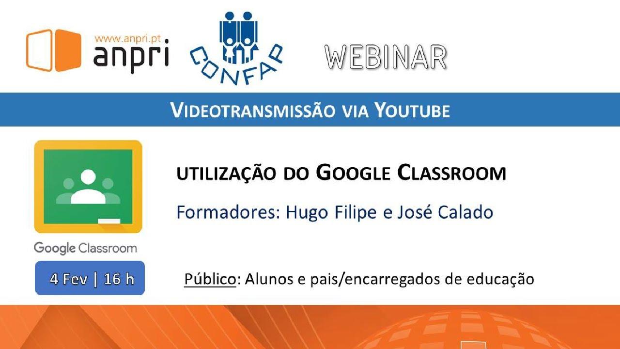 Webinar | Utilizar o Google Classroom