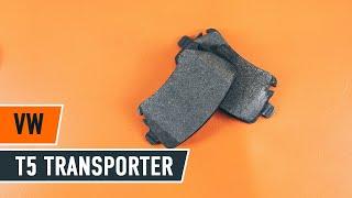VW TRANSPORTER Susidėvėjimo indikatorius, stabdžių trinkelės keitimas: instrukcija