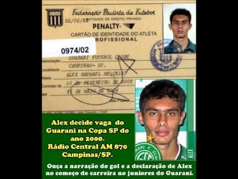 Jogador Alex Decide Vaga Para o Guarani na Copa SP de 2000