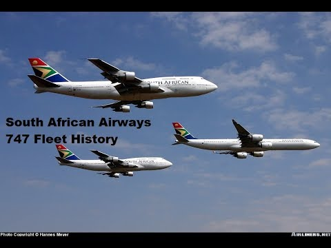 South African Airways 747 Fleet History (1971-2010)