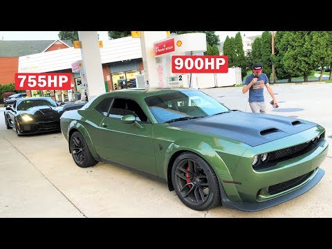 GUY IN A NEW 900HP HELLCAT REDEYE SAYS HE CAN BEAT MY ZR1!!! (TYPICAL MOPAR GUY)
