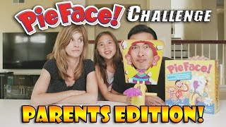 Repeat youtube video PIE FACE CHALLENGE Parents Edition!!! w/ Special Ingredients!