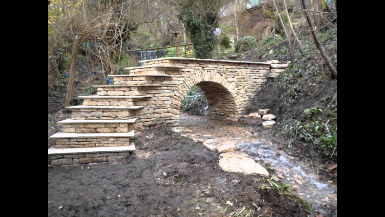 Flagstone Fireplace Dry Stone Bridge Youtube
