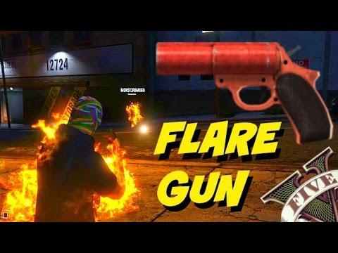 GTA 5 New FLARE GUN - Shootout With Double Kill - Funny Moments GTA HEIST DLC