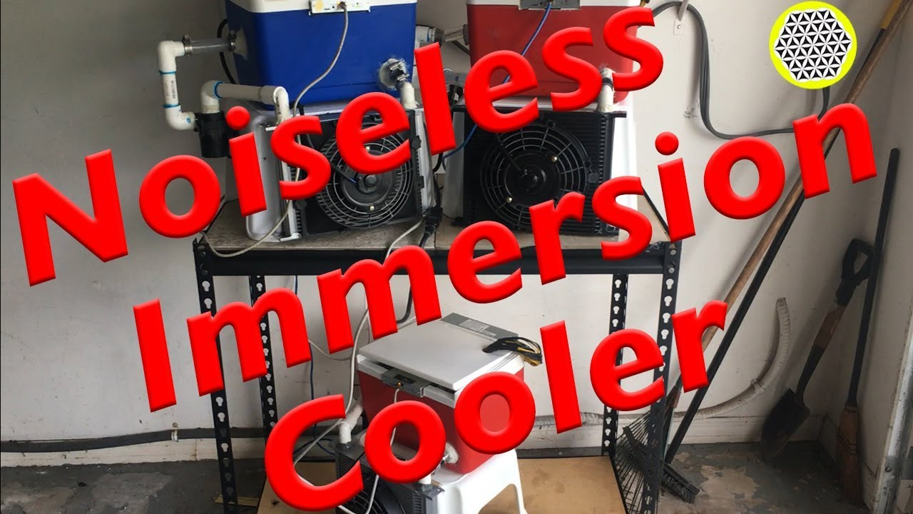 Noiseless immersion cooler! Mineral oil ASIC miner liquid immersion cooling  UPDATE!