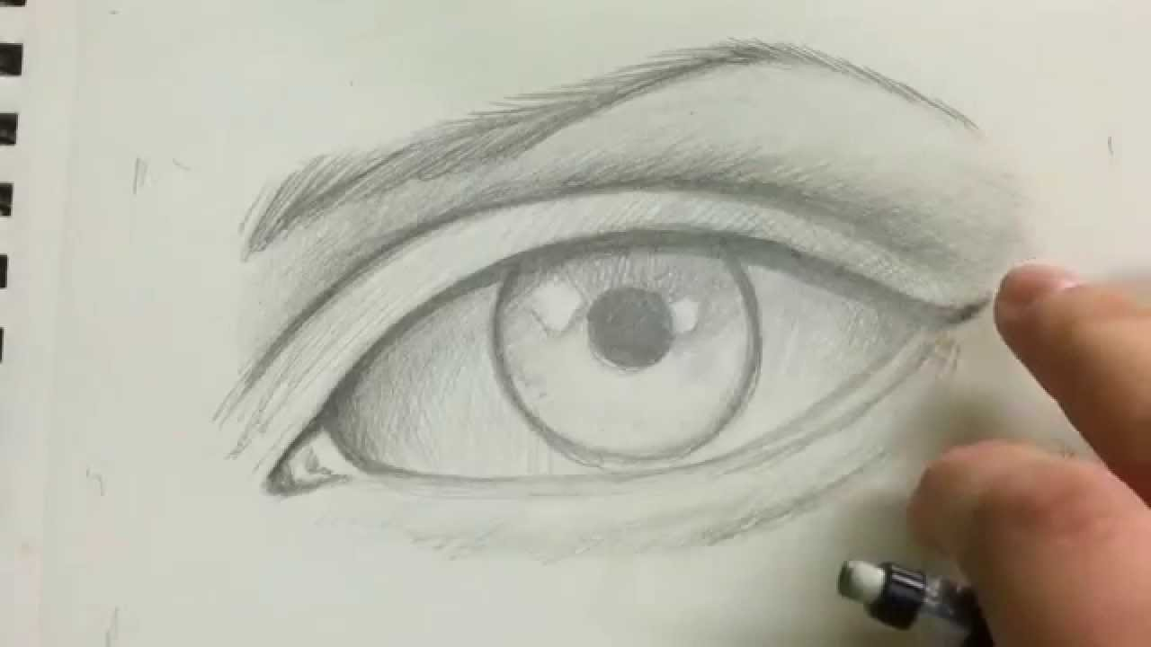 How To Draw The Realistic Eye Full Tutorial Youtube