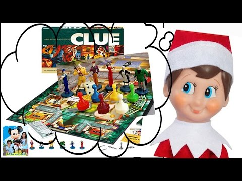 ELF ON THE SHELF Playing The Clue  DAY  7