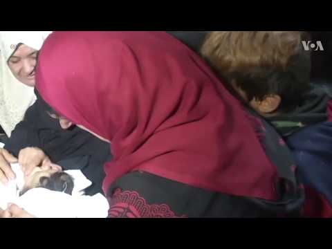 Gaza family grieves for baby killed by Israeli tear gas