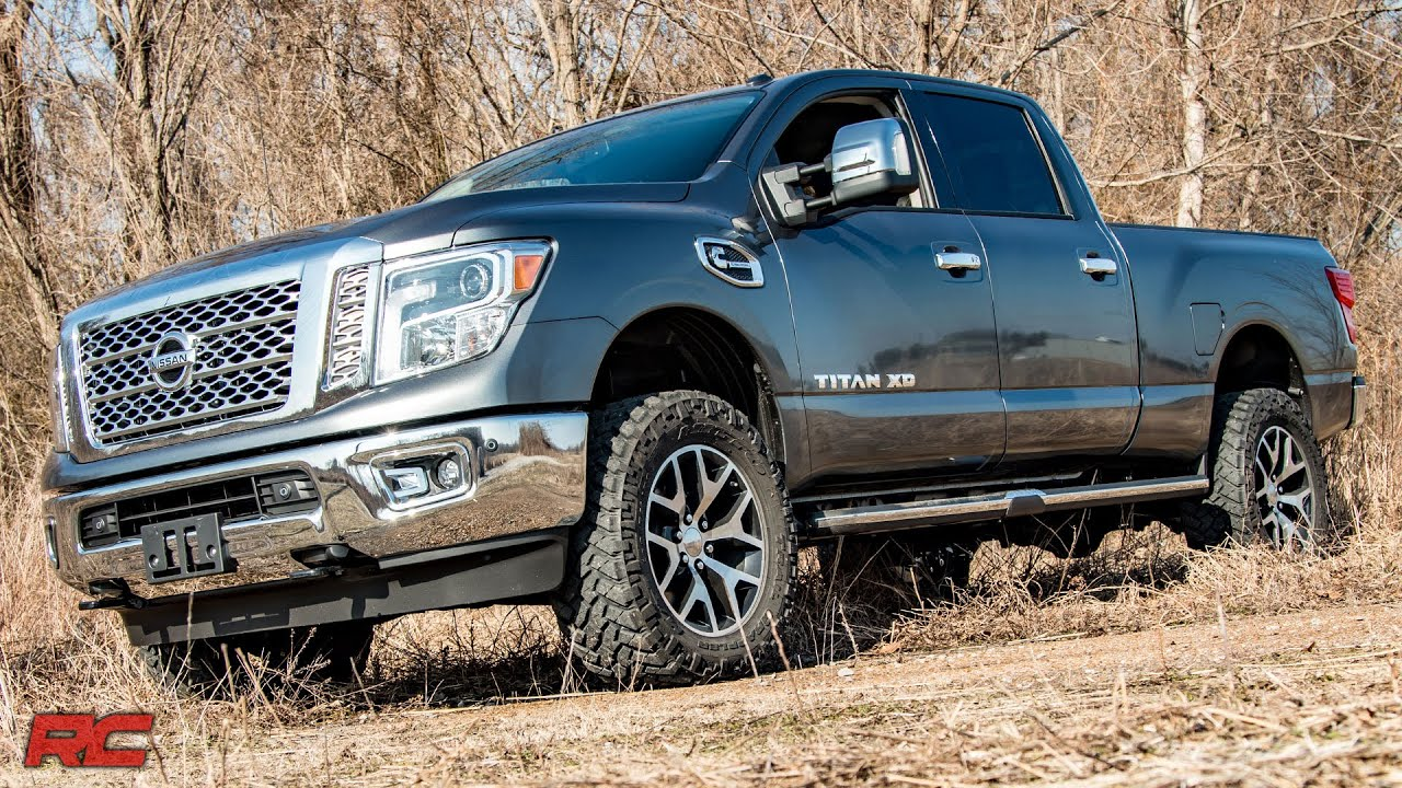 2016 2017 nissan titan xd 2 inch leveling lift kit by rough country