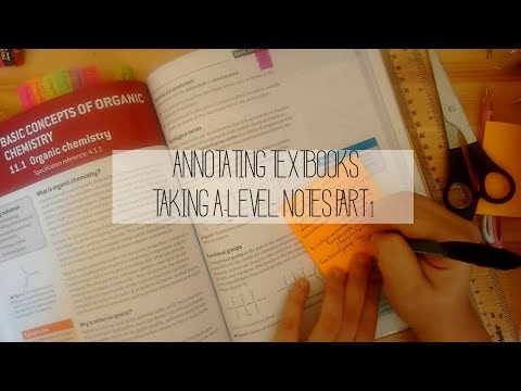 annotating textbooks   taking a-level notes part 1