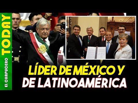 En Su Toma De Protesta, AMLO Se Define Como Líder De América Latina