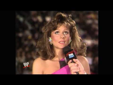 Miss Elizabeth decides whose corner she will be in at WrestleMania V: Saturday Night's Main Event, M