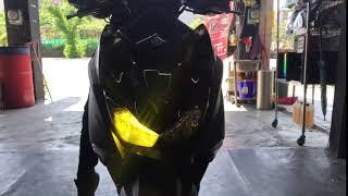 [台南禾易]YAMAHA FORCE 安裝 G8小魚眼式LED大燈,單近雙遠
