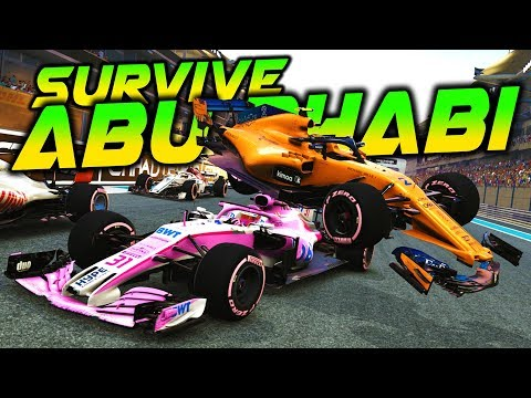 SURVIVE THE ABU DHABI GRAND PRIX - F1 2018 Extreme Damage F1 Game Keyboard Challenge |