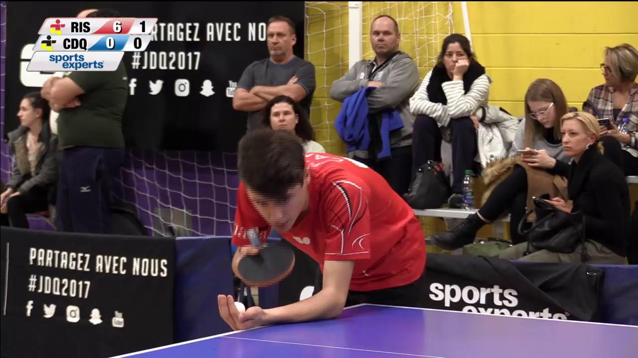 Jeux Du Quebec 2017 03 01 Tennis De Table 2 Youtube