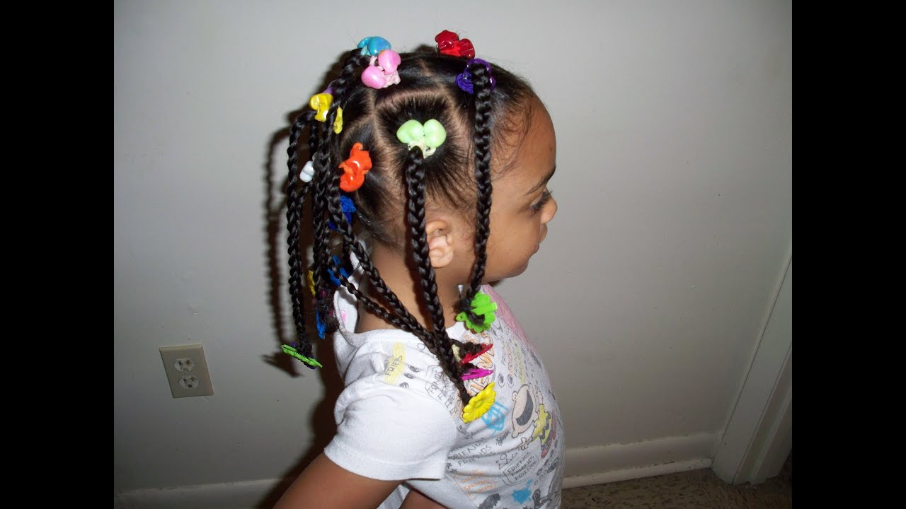 girls hair tv - cute kids hairstyles (braids, ponytails, beads