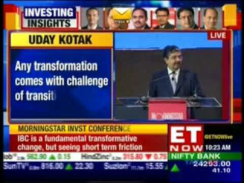 Mr. Uday Kotak on Future of Financial Services in a Changing Economy