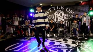 Locking Battle Best8 3 Kin vs Momoka | 20150425 Style Of Old Skool Taiwan Vol.3