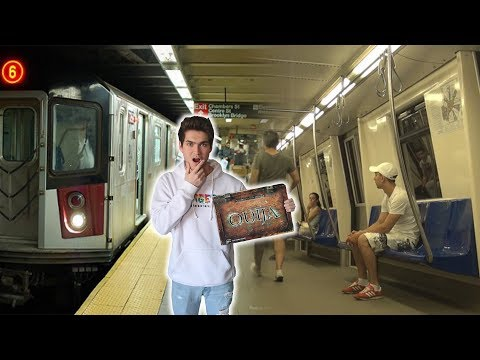 Thumbnail: PLAYING THE OUIJA BOARD IN PUBLIC SUBWAY STATION // STRANGERS PLAY WITH US (REACTIONS)