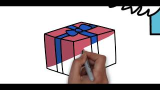 Easy Drawings - How to Draw Christmas Tree - Cute Christmas Stuff Things Top Drawing | ItsForKids