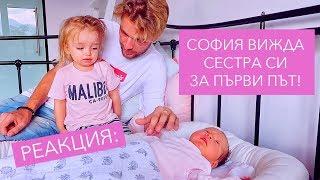 София вижда сестра си Сиена за ПЪРВИ ПЪТ! Реакция + Giveaway