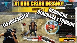 X1 DOS CRIAS - BLACK444 x THURZIN REVANCHE - NOVAS REVELAÇÕES! - MELHORES CLIPES FREE FIRE
