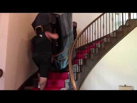Moving A Heavy Piano Upstairs In Lantana,TX By Rescue Movers