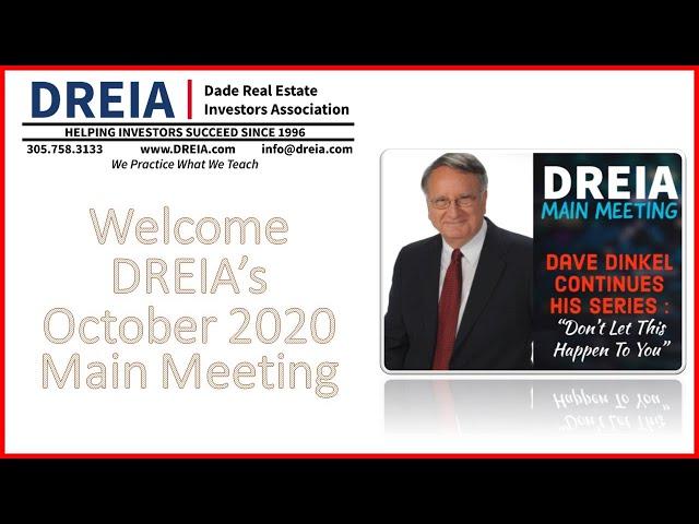 DREIA October 2020 Meeting