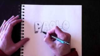 Dessiner des lettres en 3D avec Paolo Morrone