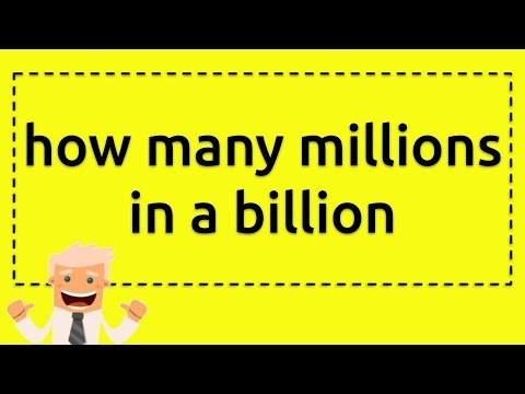 How Many Millions In A Billion