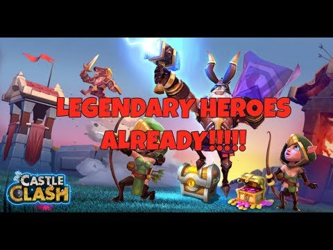 Castle Clash - LEGENDARY HEROES ON FIRST DAY!! And First Impressions.