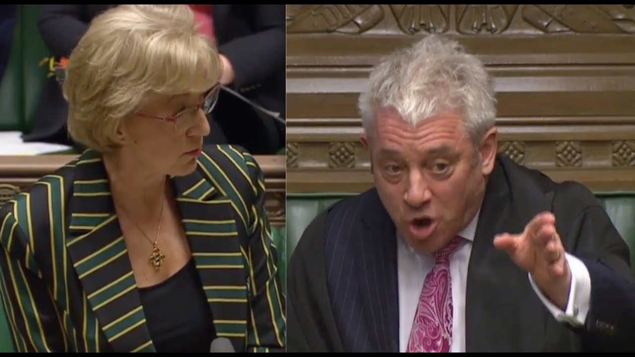 "Speaker John Bercow FURIOUS in discussion with Andrea Leadsom: ""SIT DOWN"" - ""Raise the level!"""