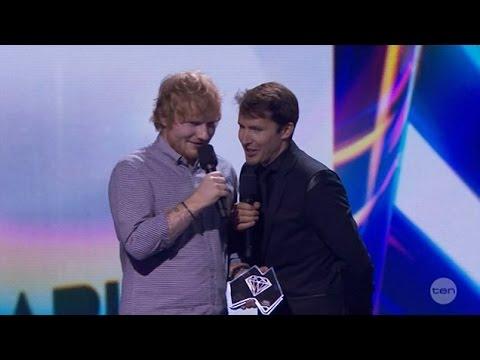 James Blunt tells Ed Sheeran he 'got herpes' after stealing beer