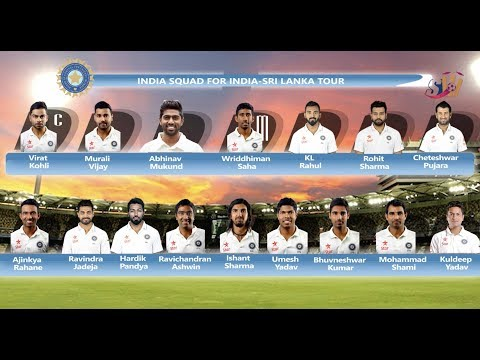 Indian Cricket Team Squad For Sri lanka Tour 2017 | SportzWiki