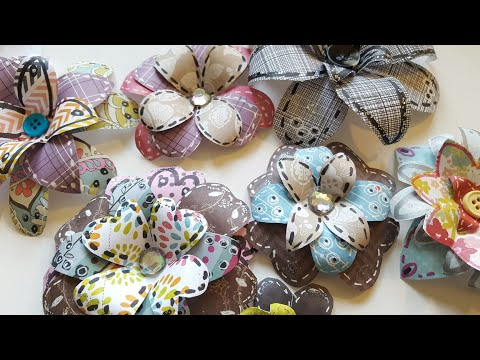 HOW TO MAKE ARTSY PAPER FLOWERS USING SCRAPS | PAPER CRAFTING