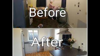 DIY FULL kitchen renovation TIMELAPSE