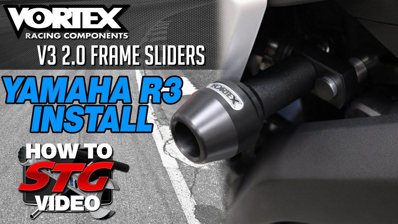 Vortex V3 2 0 Frame Sliders Install on a 15-17 Yamaha R3 |  Sportbiketrackgear com