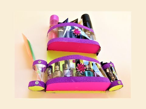 DIY Plastic Bottle Craft | Waste Plastic Bottle Reuse Ideas | Cosmetic Organizer | Best Out Of Waste