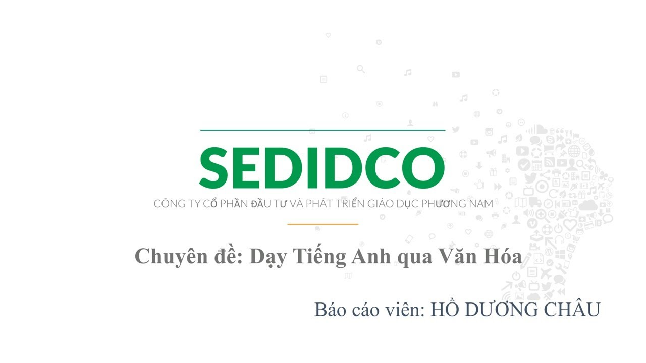 [SEDIDCO] Sinh hoạt chuyên môn – Môn tiếng Anh – Culture – March 2021