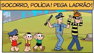 Socorro, polícia! Pega ladrão! | Turma da Mônica thumbnail