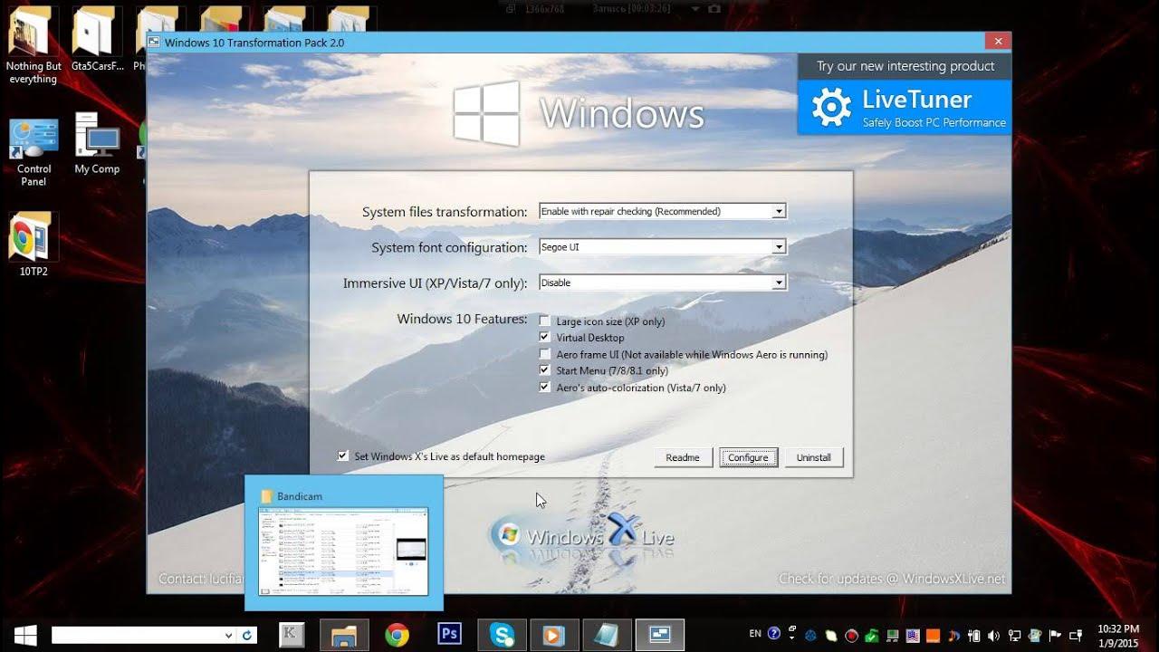 Windows 10 Transformation Pack - Transform Windows 7 InTo Windows 10