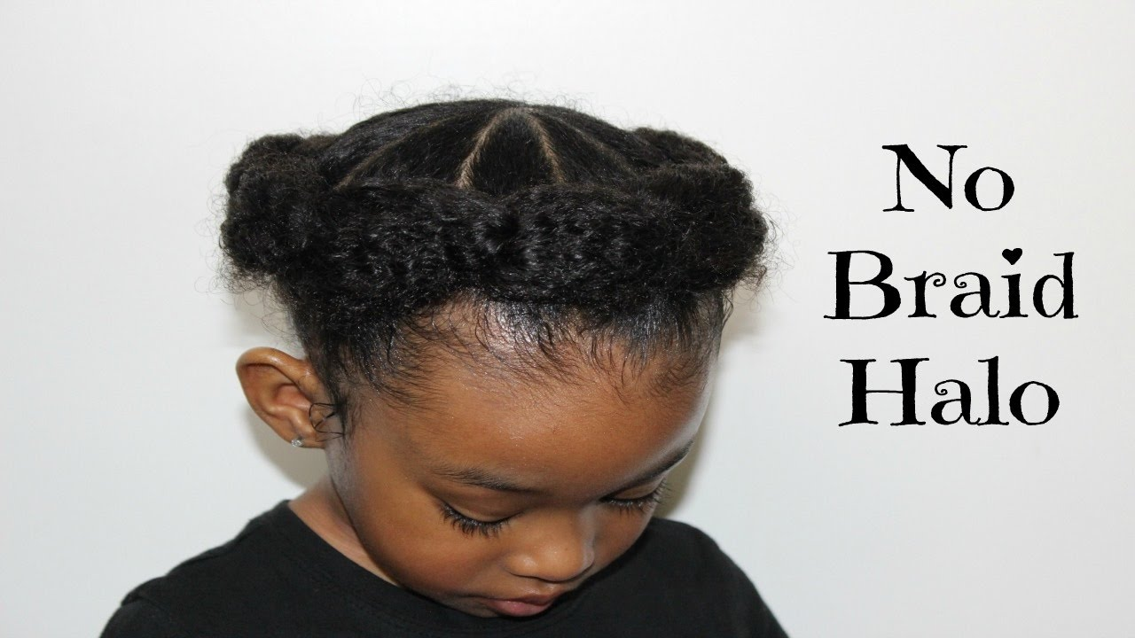 No Braid Halo Hairstyles For Little Girls Youtube