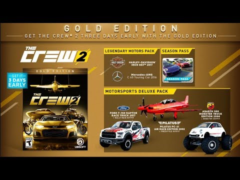 the crew 2 gold edition content uplay rewards youtube. Black Bedroom Furniture Sets. Home Design Ideas