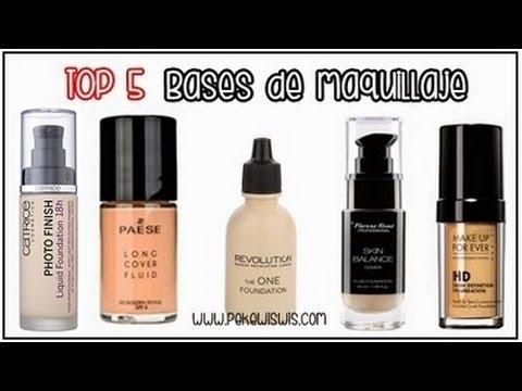 top 5 bases de maquillaje