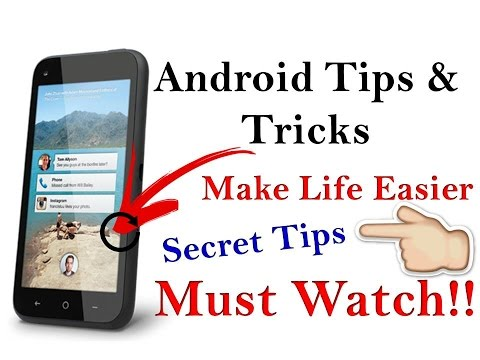 Top 5  Amazing Android SECRETS, TIPS and TRICKS in Hindi - Experts Must Watch!!