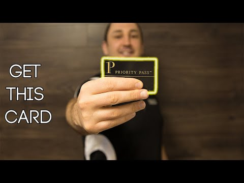 You NEED This CARD - Priority Pass Lounge Access
